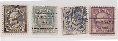 (Q21-90) 1908 USA mix of 4 stamps of 15c to 50c