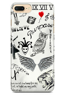 Justin Bieber Tattoos for iPhone 5 5S 6 6S 7 7 Plus Hard Case