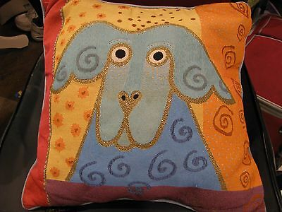 Laurel Burch Stylized Dog Pillow, Soft Colors Fit and Decor, For Bed or Sofa