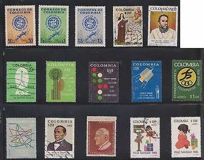 (U21-24) 1960-70 Colombia mix of 50stamps value to $1.80 (B)