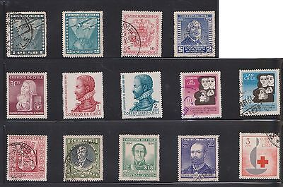 (U21-21) 1911-70 Chile mix of 38stamps value to $10 (D)