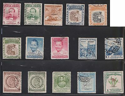 (U21-26) 1950-70 Colombia mix of 50stamps value to $2.00 (D)