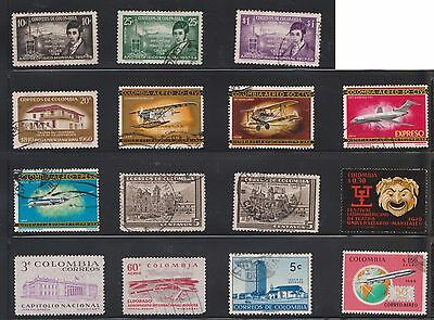 (U21-29) 1950-90 Colombia mix of 53stamps value to $6.00 (G)