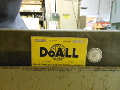 "Doall Granite Surface Plate 24 X 48 x 4  .0006"" tolerance with heavy duty stand"
