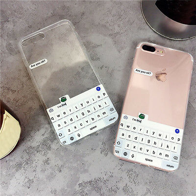 Creative Funny Keyboard Soft TPU Phone Back Case Cover For iPhone 6 6s 7 Plus