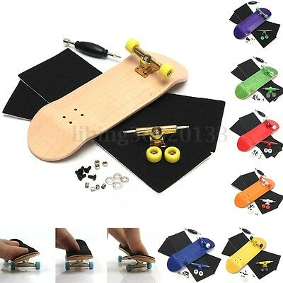 MINI Complete Fingerboard Finger Skate Board Grit Box Foam Tape Wood GB08