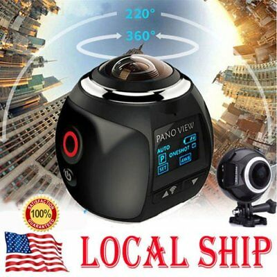 WiFi 4K 360° ULTRA HD Panoramic Mini Sport DV Action Camera Driving VR Camcorder