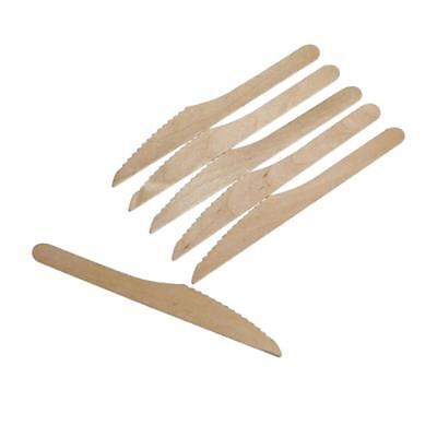 100pcs Wood Cutlery Birch Wooden Disposable Tableware Travel Party Home