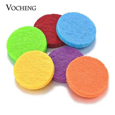20pcs/lot 22mm Felt Pads Colorful Oil Pad for 30mm Aromatherapy Locket VA-317*20