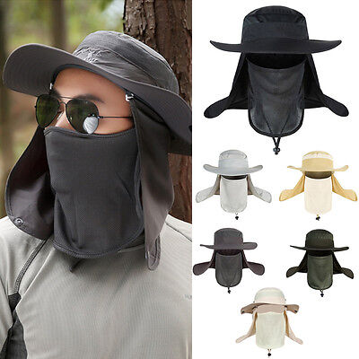 Outdoor Tactical Military Hunting Hiking Fishing Sun Hat Protection Cap Cover CE