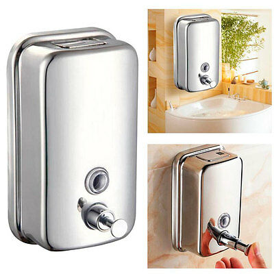 Wall Mounted Soap Dispenser Toilet Shower Gel Shampoo Lotion Conditioner 4578
