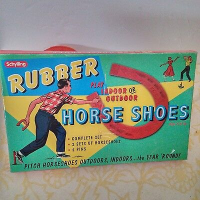 SCHYLLING VTG Rubber Horseshoes Complete Set Indoor/ Outdoor All Ages