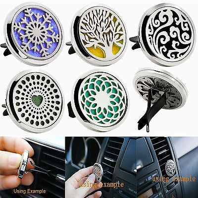 Edelstahl Stainless Aromatherapy Essential Oil Diffuser Auto Vent Clip Locket