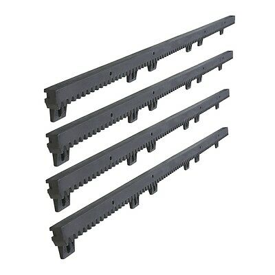 ALEKO Nylon Gear Rack 4pcs 3.3ft Each With Metal Insert For Sliding Gate Openers