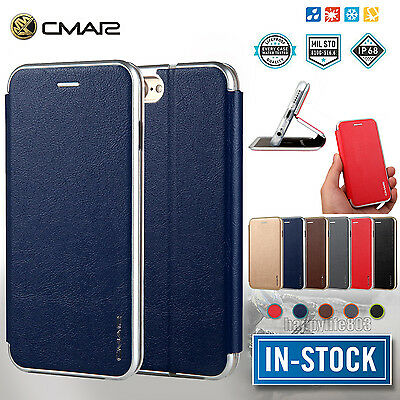 LUXURY LEATHER MAGNET FLIP WALLET STAND CASE COVER FOR APPLE IPHONE 7 8 6S Plus