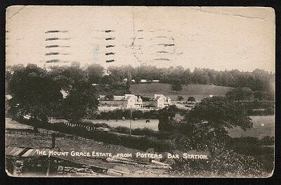The Mount Grace Estate from Potters Bar Station 1929 vintage postcard