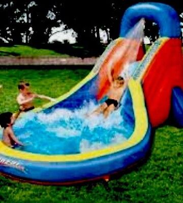 Kids Inflatable Water Slide, Splash Pool,Blower,Wet/dry Used Once Fab