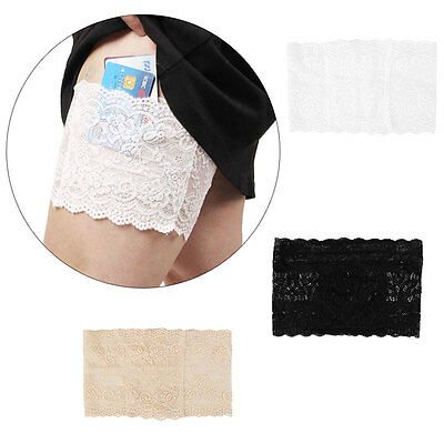 Women Elastic Lace Anti-Chafing Thigh Band Sock Non Slip Leg Warmers 3 Sizes UK