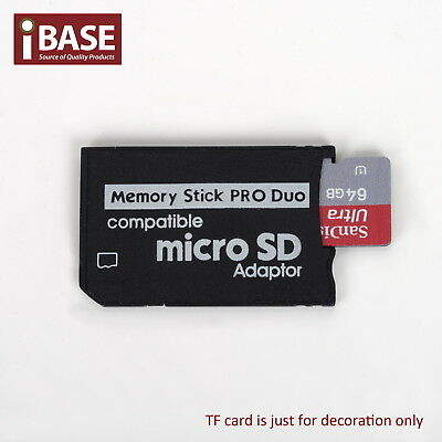 Micro SD HC TF card to Memory Stick MS Pro Duo Reader Adapter Converter PSP SDHC