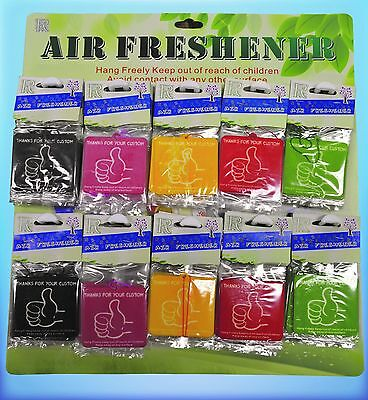100 Bulk Hanging Car Wash Taxi Valet Air Freshener Wholesale Promotional