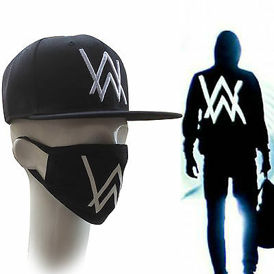 Alan Walker Music DJ Sweater Faded Cap Hat Mask Set Cosplay Black New