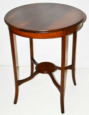 Edwardian Inlaid Mahogany Occasional Table - FREE Shipping [PL3293]