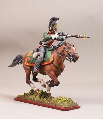 Tin Soldier, collector pain., Russian Trooper Dragoon № 4, 54 mm, Napoleonic war