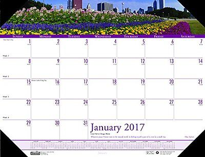 House of Doolittle 2017 Monthly Desk Pad Calendar, Earthscapes Gardens, 22 x...
