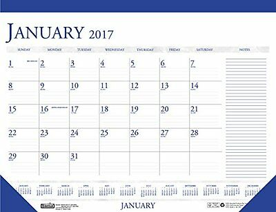 House of Doolittle 2017 Monthly Desk Pad Calendar, Classic with Notes Section...