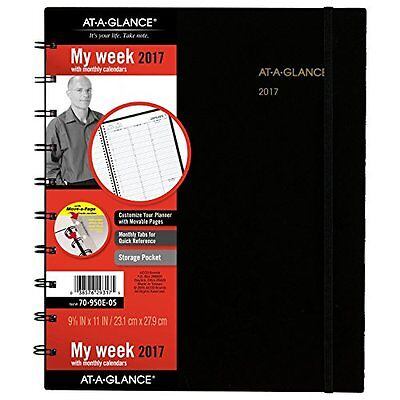 AT-A-GLANCE Weekly / Monthly Appointment Book / Planner 2017, Move-A-Page,...