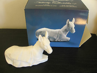 Avon White Bisque Porcelain Nativity The Donkey in Box