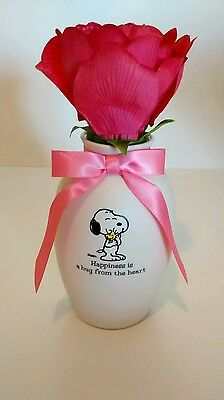 Snoopy Peanuts Hallmark Blooming Expressions Musical Flower Gift love