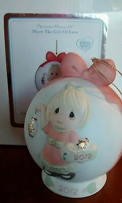 10 X LIGHT YOUR HEART XMAS JOY~PRECIOUS MOMENT porcelain  ornament 2012 #121003