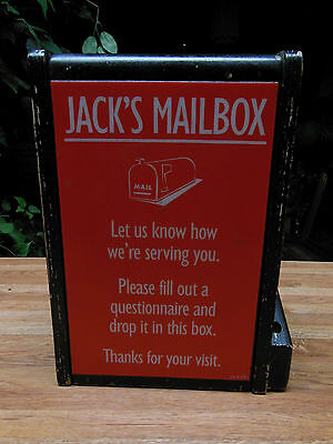 Jack in the Box Restaurant Vintage Suggestion Box (Jack's Mailbox)