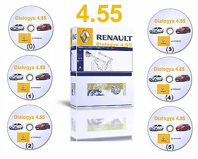 2016 Dialogys 4.55 Workshop Repair Manuals Parts Catalogue for Renault 6 DVDs