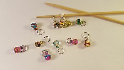 Knitting stitch markers, set of 4, MYSTIQUE, assorted colours
