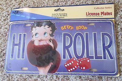 Betty Boop High Roller License Plate New In Original Package
