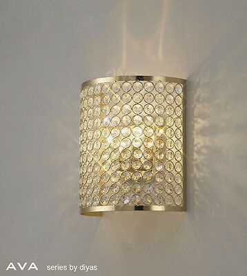 Diyas Lighting IL-IL30759 Ava Double Wall Light French Gold Finish