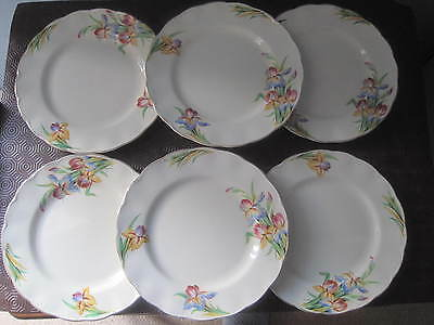 "Vintage (1930's) Grindley Cream Petal 6 x 9"" Lunch plates 'Iris'"