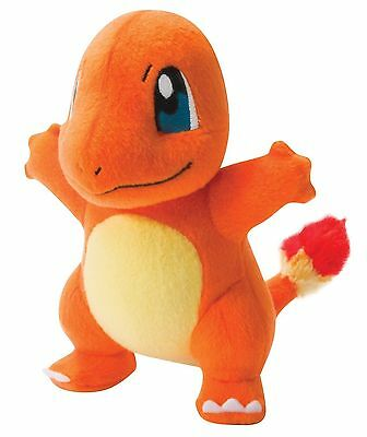 """POKEMON CHARMANDER AUTHENTIC OFFICIAL TOMY LICENSED 8"""" LARGE PLUSH NEW w/ TAGS"""