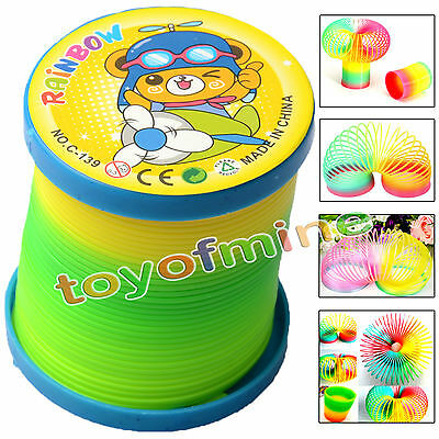 1Pcs Colorful Rainbow Plastic Magic Slinky Children Classic Development Toy