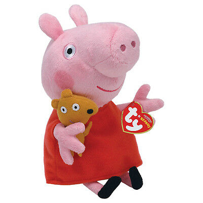 "Peppa Pig Beanie Plush Soft Toy, 7"" (18cm)"