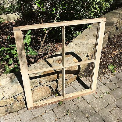 VINTAGE ANTIQUE SHABBY CHIC WINDOW  4 PANE FARMHOUSE WEDDING FRAME BARN old pine