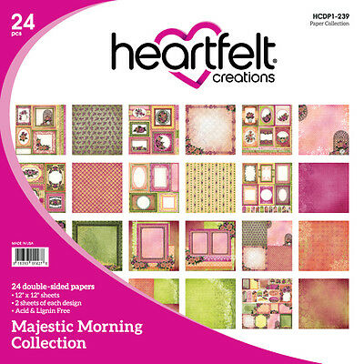 Heartfelt Creations Majestic Morning 12x12 Cardstock Paper Collection Retired