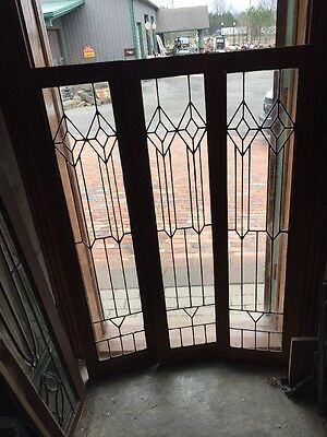 Sg 1280 3Available Price Separate Antique Leaded Glass Window Or Cabinet Door