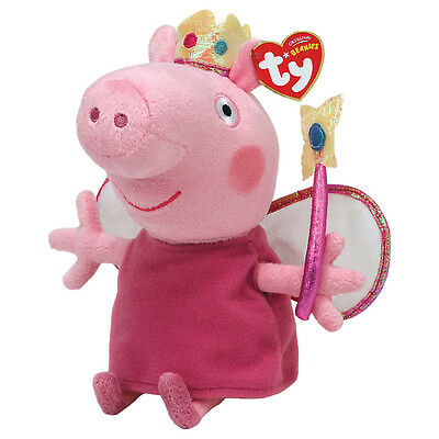 "Princess Peppa Beanie Plush Soft Toy, Peppa Pig 7"" (18cm)"