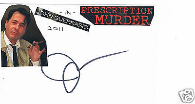 John Guerrasio American Film actor and author Hand Signed Card 6 x 4
