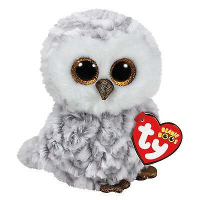 "Owlette The White Owl Plush Soft Toy, TY Beanie Boo's Collection 6"" (15cm)"