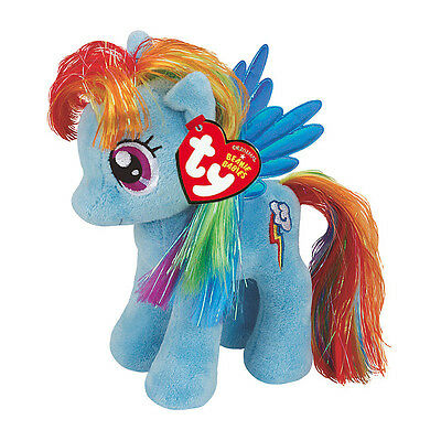 "Rainbow Dash Beanie Plush Soft Toy, My Little Pony 7"" (18cm)"