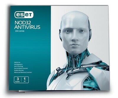 Eset NOD32 Antivirus - Version 2019 (2 Years / 1 PC) for Windows